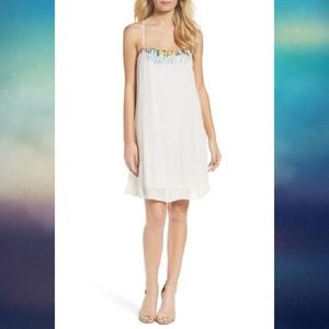 French Connection Shift Sun Dress Embroidered FCUK